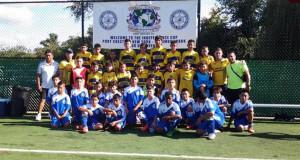 Algunos de los equipos que participaron en la Copa Independencia Internacional 2015.