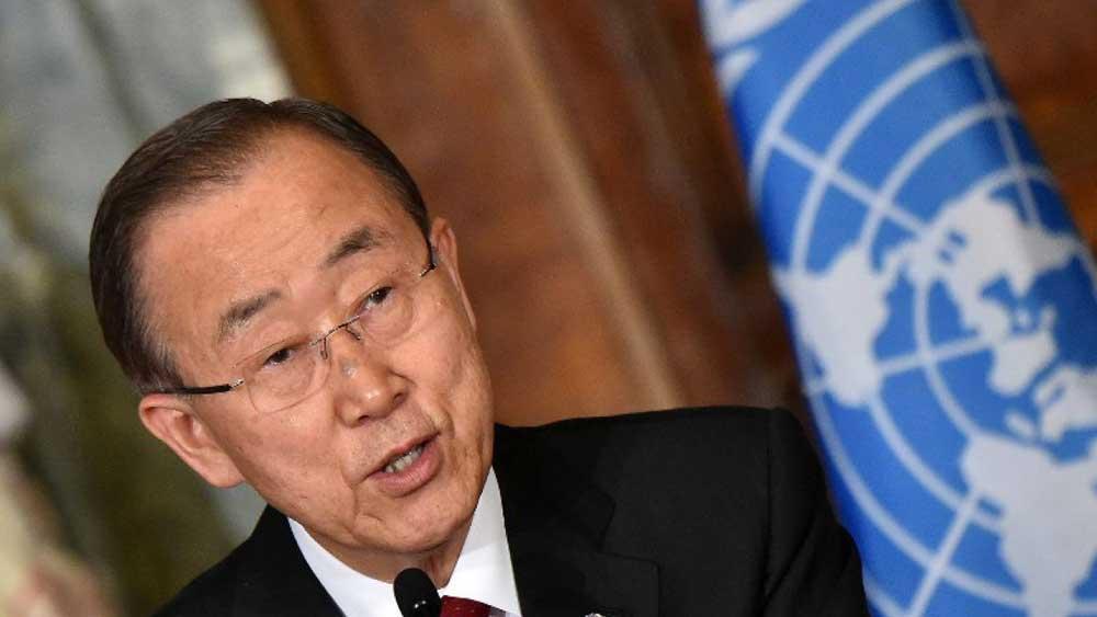 """El jefe de la ONU tuvo también palabras para la candidata demócrata, Hillary Clinton, a la que agradeció por su """"compromiso con la paz, el progreso de las mujeres y el bienestar de los niños"""". Foto: Internet."""