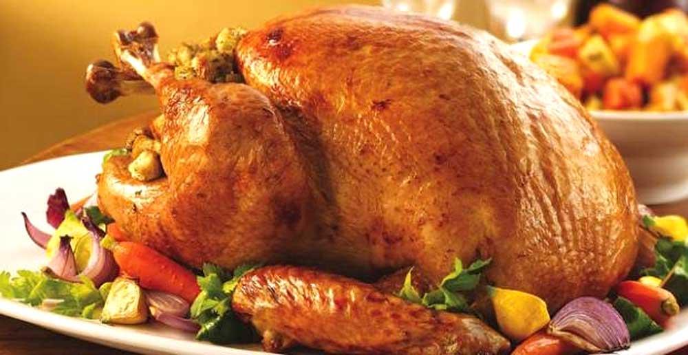El pavo el horno es el potaje más tradicional en la mayor parte de Latinomérica.